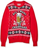 Hybrid Apparel Men's Ugly Christmas Sweater, Beer/Red, Large