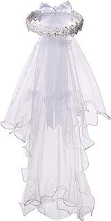 حجابهای گل سفید برای اولین بار برای دختران