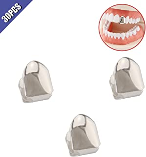 ComidoxHip Hop Single Teeth Grillz Caps Top Bottom Dental Grill