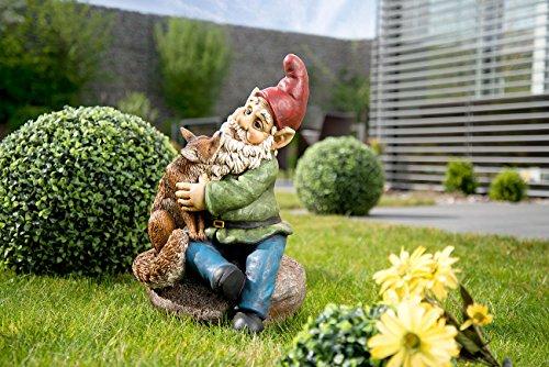Royal Gardineer Gartenzwerg Olli mit Fuchs, handbemalt - 2