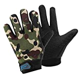 Accmor Kids Cycling Gloves, Kids Fishing Gloves, 4-10 Years Kids Boys Girls Sport Gloves, Breathable Non-Slip Bike Riding Gloves for Fishing Cycling Hunting Climbing Outdoor Sports