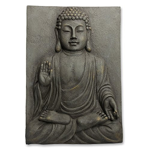Buddha Wandbild in Stein-Optik P-025