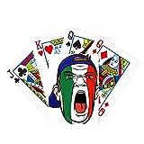 Juego de mesa divertido de cartas mágicas con tapa de maquillaje de bandera de Italia