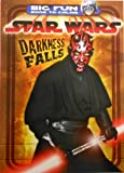 Star Wars Kids 96 Page Coloring Book 'Darkness Falls' featuring Darth Maul on Cover