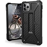 UAG Designed for iPhone 11 Pro Max [6.5-inch screen] Monarch Feather-Light Rugged [Carbon Fiber] Military Drop Tested iPhone Case