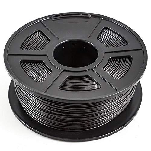 Filamento de fibra de carbono PLA 1.75mm, filamento de impresora 3D, 70% PLA + FIBRA DE CARBONO 30%, precisión dimensional +/- 0.02mm-Negro carbón 3kg