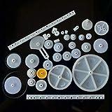 34 tipos de cremallera y piñón bolsa de juguete modelo polea plástico reductor de engra...