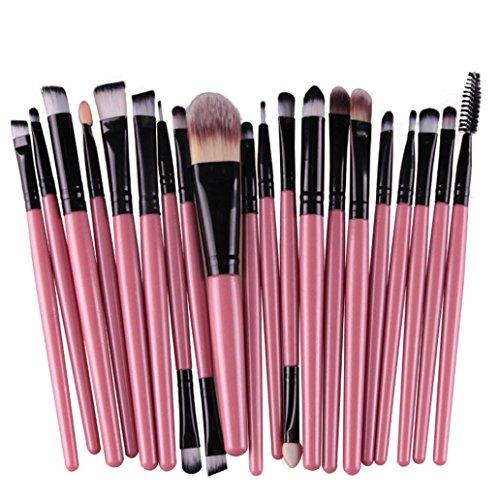 Malloom® 20 PC Professionale Contorno Piatto Fard Pennello Cosmetico Rossore Kabuki Strumento Cosmetici Pennello Trucco (Nero)