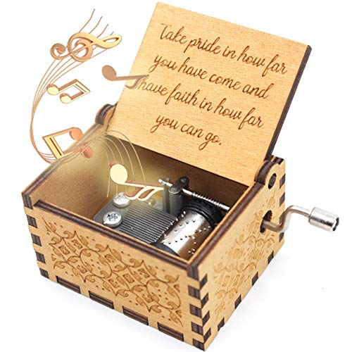 ukebobo Wooden Music Box – Inspirational Music Box,Graduation Present, Gifts for Friends, Kids, Son, Daughter, Cousins,Schoolmate,Schoolfellow– 1 Set