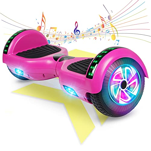 """FLYING-ANT Hoverboard, Hoverboard with Bluetooth and LED Lights Self Balancing Electric Scooter 6.5"""" Two-Wheel Hoverboards for Kids and Teenagers"""