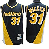 XXMM Camiseta para Hombre - NBA Indiana Pacers # 31 Reggie Miller Camiseta De Baloncesto, Camiseta Sin Mangas Tops Outdoor Retro Gym Vest Sports Top,Amarillo,XXL(185~190CM)