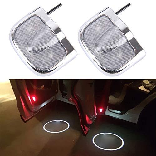 YANTAIAN 2 PCS LED Coche Puerta Logotipo Bienvenida Coche Marca Sombra luz Lámpara de proyector láser para Volvo (Color : Silver)