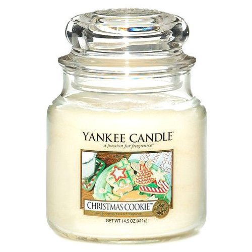 Yankee Candle Glaskerze, mittel, Christmas Cookie