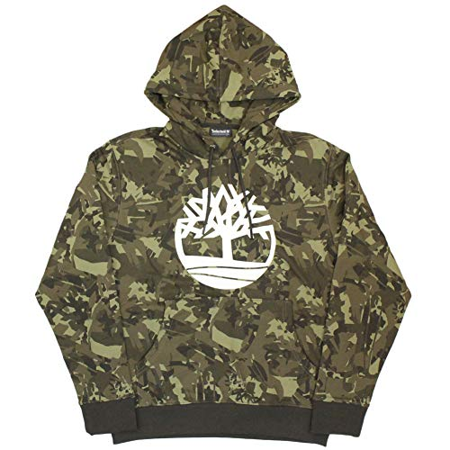 Timberland Camo Logo Hoodie Grape Leaf Trek Camo XL