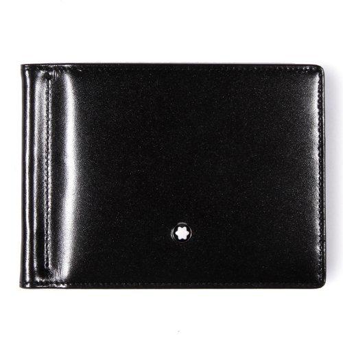 MONTBLANC Men's 6cc Wallet with Money Clip, Black