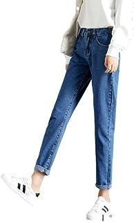NOBRAND mujeres cintura alta jeans más tamaño suelto recto moda casual mamá jeans harén pantalones y pantalones vaqueros n...