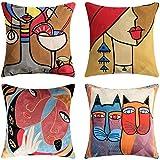 Set di 4 Fodere per Cuscini Picasso 45x45cm Fodere per Cuscini...