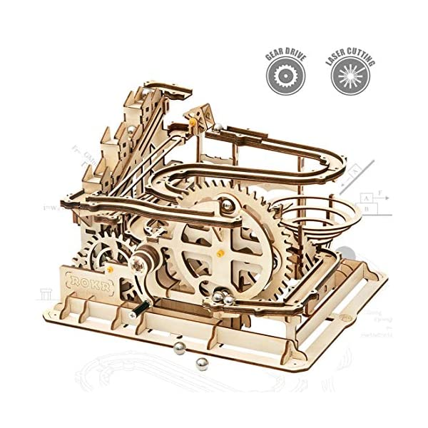 ROKR Mechanical 3D Wooden Puzzle Model Kit Adult Craft Set Educational Toy Building...