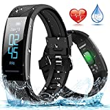 ELEGIANT Fitness Tracker, Orologio Braccialetto Fitness Bluetooth Impermeabile IP67 per iPhone XS XS...