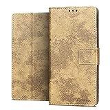 RIFFUE Hülle für Alcatel 3V 2019 Hülle, Alcatel 3V 2019 Schutzhülle Retro PU Leder Case Vintage Brieftasche Handyhülle Flip Cover mit Kickstand & Card Slots 6,7 Zoll - Khaki