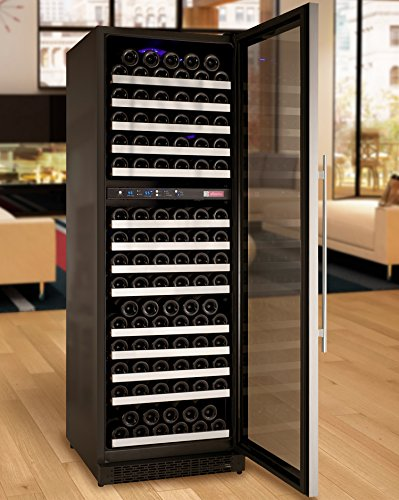 Allavino VSWR172-2SSRN FlexCount Series 172 Bottle Dual Zone Wine Refrigerator with Right Hinge