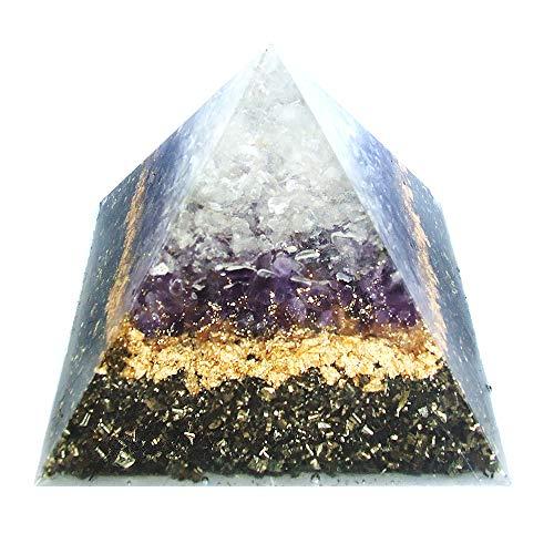 emotion & design Pyramide Orgonit - Edelsteine, viel Messing und Kupferspirale