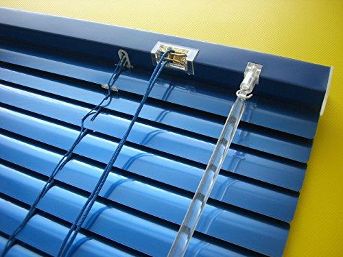 Alu Jalousie dunkel blau Marine - Breite 50 bis 240 cm - Höhe 130/160 / 220 cm - Tür Fenster Rollo Jalousette Aluminium Fensterjalousie Lamellen Metall (240 x 160 cm)