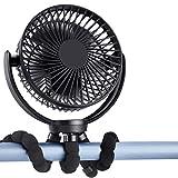 SLENPET Clip fan with Flexible Tripod, 5000mAh...