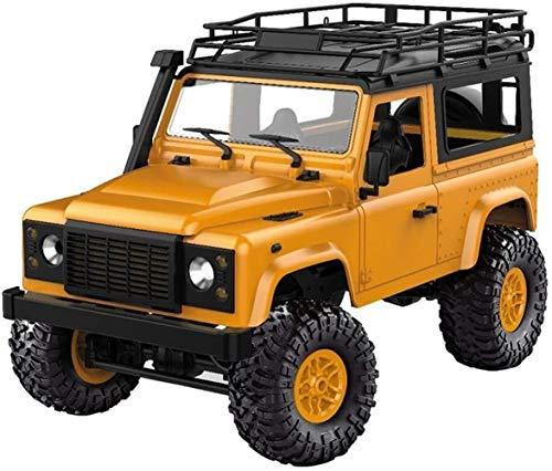 VanFty Control remoto de camiones luz delantera LED Rock Crawler 1/12 4WD 2.4G control remoto de alta velocidad del carro del camino RC RTR coche llevó la luz MN-D90 Monster Truck juguete de regalo de