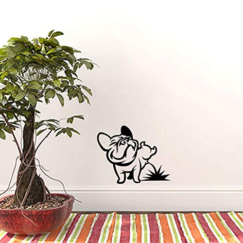 Cane Divertente Pissing Bulldog Francese Wall Stickers Vinile Wall Art Decal per Soggiorno Kids Room Cars Tablet Wallpaper Home 30X40cm