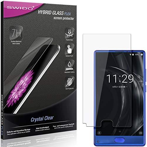 SWIDO Panzerglas Schutzfolie kompatibel mit Doogee Mix Lite Bildschirmschutz-Folie & Glas = biegsames HYBRIDGLAS, splitterfrei, Anti-Fingerprint KLAR - HD-Clear