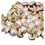 Clong01 Duradero 100 Sets x Perlas de imitación con Remaches Studs Bolsa de Cuero Zapatos de Ropa Artesanía Decoración para la reparación de artesanías (Size : 10mm)