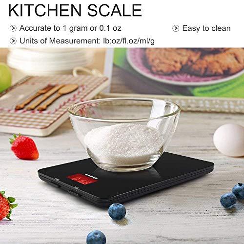 Balance Accuweight Peser jusqu'à 11 lb, en Noir - Modèle AW-KS001BB - 2