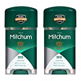 Mitchum Clear Gel Anti-Perspirant & Deodorant, Unscented for Men, 2.25 Oz (2 Pack)