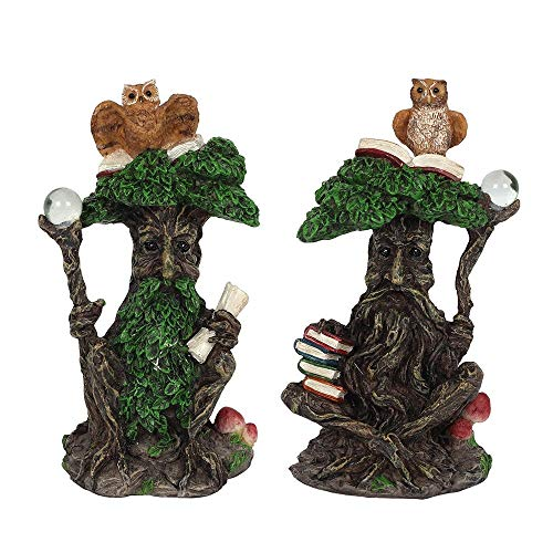 12CM GREEN MAN ORNAMENT WITH OWL
