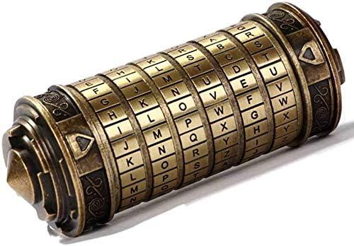 Da Vinci Code Mini Cryptex Lock Puzzle Box with Hidden Compartments