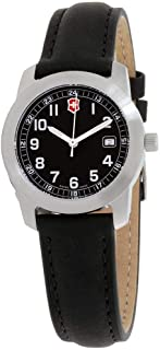 Victorinox Field Black Dial Leather Strap Ladies Watch 26011CB