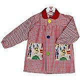 KLOTTZ VENGADORES - Babi colegio bolsillos de tela de Vengadores. Bata escolar y comedores. Niñas color: ROJO talla: 3
