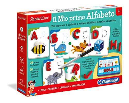 Clementoni - 16072 - Sapientino - Il Mio Primo Alfabeto, gioco per imparare a scrivere le lettere - lavagna cancellabile - gioco educativo 4 anni - Made in Italy