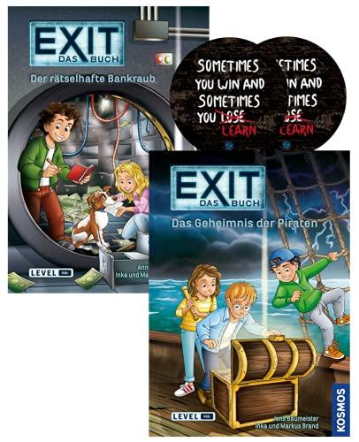 EXIT Das Libre: Das Geheimnis der Piraten + Der misterioso Bankraub + 2 X Exit Sticker