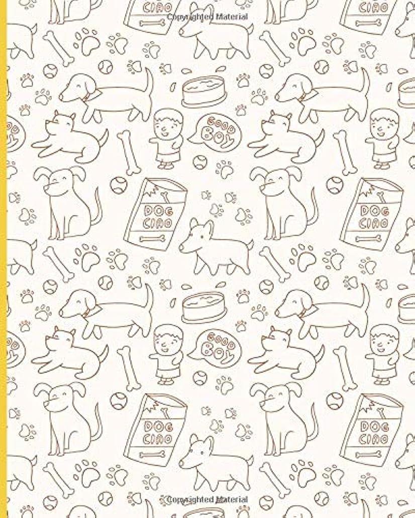 お祝い評価する殺人者Blank Lined Journal Notebook: Writing Notes and Journaling | Hand Drawn Dog Pattern Cover