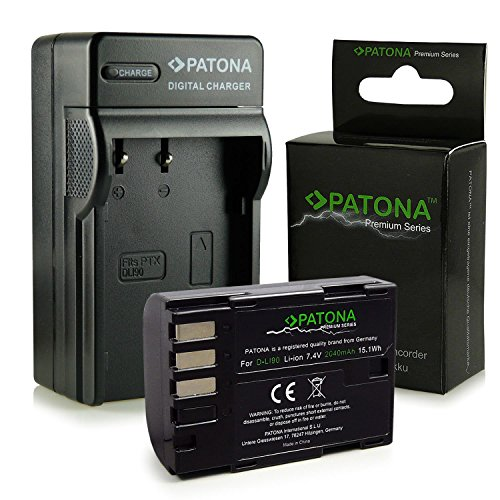 PATONA Cargador + Premium Batería D-Li90 compatible con Pentax 645D   K-01   K-3   K-5   K-5 II   K-5 IIs   K-7