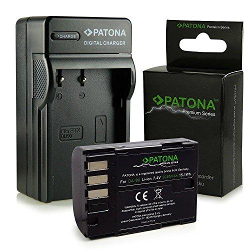 PATONA 3in1 Caricabatteria + Premium Batteria D-Li90 compatibile con Pentax 645D K-01 K-3 K-5 K-7