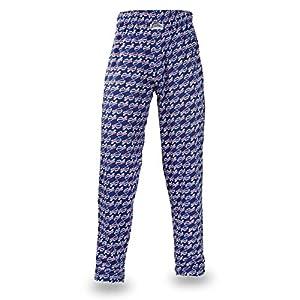 Zubaz NFL Buffalo Bills Men's Team Logo Print Comfy Jersey Pants, Large, Blue