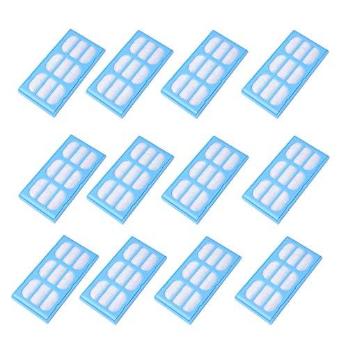 Poweka 12 x Ersatzfilter, Trinkbrunnen für Cat Mate, Dog Mate, Katze,Pet Mate Ersatzfilter,Hund/Katze Filter Patronen