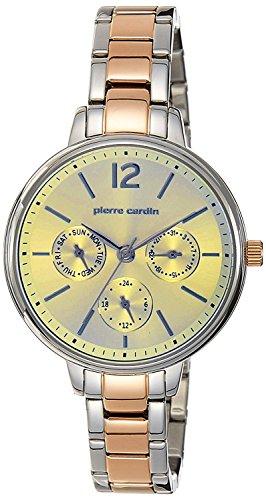 Pierre Cardin Damen Multi Zifferblatt Quarz Uhr mit Edelstahl Armband PC107592F08