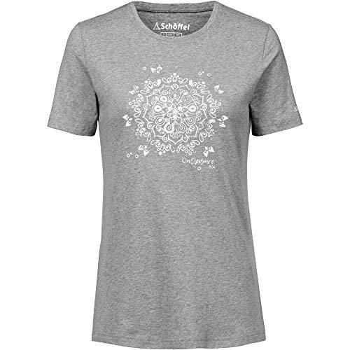 Schöffel Zug2 T-Shirt Femme, Silver Filigree, FR : L (Taille Fabricant : 42)
