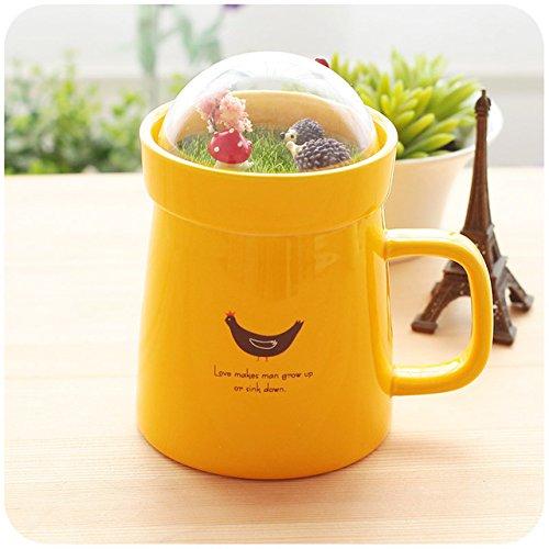 Mug Coffee Cup Creative Cartoon Animal Micro Landscape Caneca Milk and Coffee Mug 400Mlhigh-Capacity Office Ceramic Cups Beauty Gifts,Turmeric,400Ml