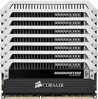 Corsair Dominator Platinum - Memoria RAM (DDR3, 2133 MHz, 64 GB, C9, 8 x 8 GB)