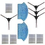N\A Para Midea 5 filtros + 4 cepillos laterales + 2 trapos 11 piezas/set de accesorios para aspiradora, filtro lateral cepillo de pelo